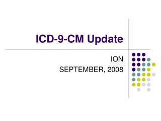 ICD-9-CM Update