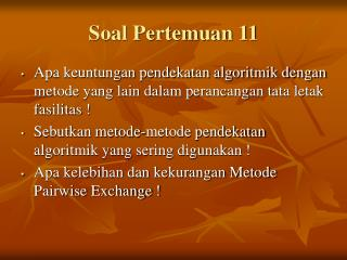 Soal Pertemuan 11