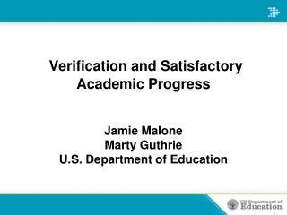 Verification and Satisfactory Academic Progress