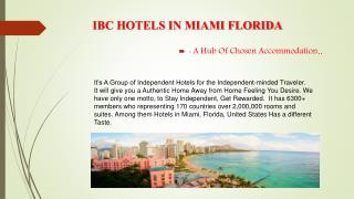 IBC HOTELS IN MIAMI FLORIDA