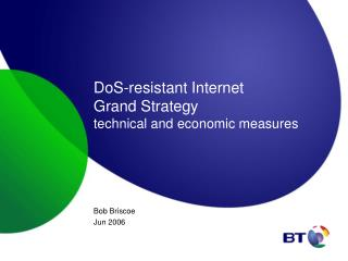 DoS-resistant Internet Grand Strategy technical and economic measures