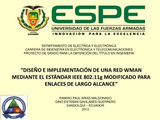 DEPARTAMENTO DE ELÉCTRICA Y ELECTRÓNICA  CARRERA DE INGENIERÍA EN ELECTRÓNICA Y TELECOMUNICACIONES