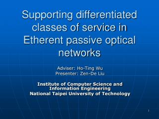 Supporting differentiated classes of service in Etherent passive optical networks