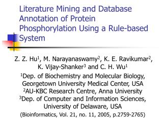 Literature Mining and Database Annotation of Protein Phosphorylation Using a Rule-based System