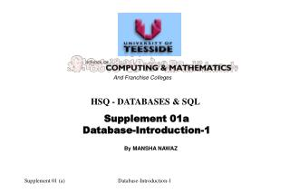 HSQ - DATABASES & SQL