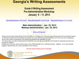 Georgia�s Writing Assessments