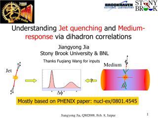 Understanding  Jet quenching  and  Medium-response  via dihadron correlations