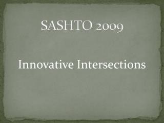 SASHTO 2009