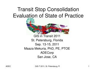 Transit Stop Consolidation  Evaluation of State of Practice