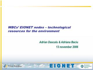 WBCs' EIONET nodes – technological resources for the environment