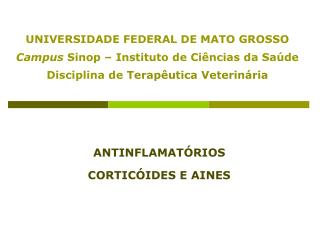 ANTINFLAMAT�RIOS CORTIC�IDES E AINES