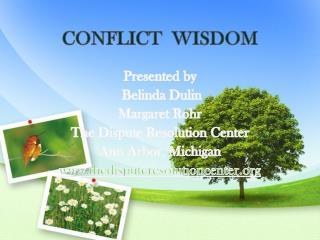 CONFLICT  WISDOM