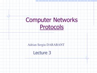Computer Networks Protocols