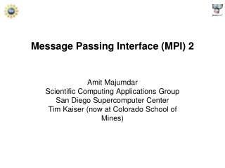 Message Passing Interface (MPI) 2