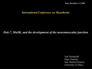 International Conference on Myasthenia