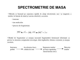 SPECTROMETRIE DE MASA