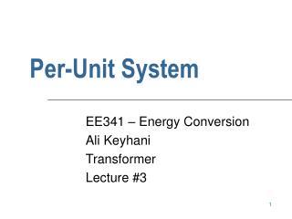 Per-Unit System