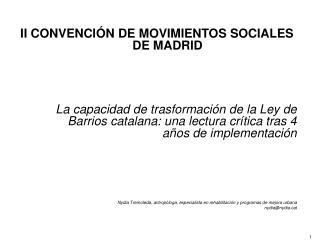 II CONVENCIÓN DE MOVIMIENTOS SOCIALES DE MADRID