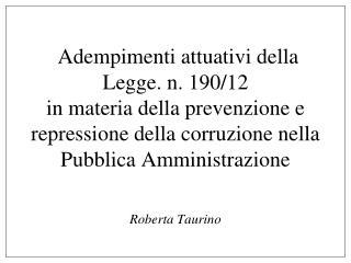 Roberta Taurino