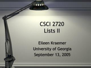CSCI 2720 Lists II