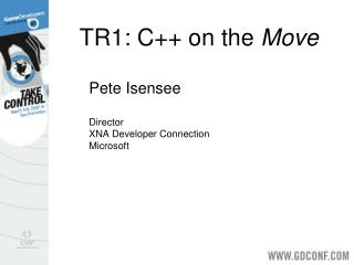TR1: C++ on the  Move