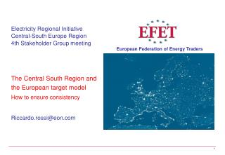 Electricity Regional Initiative   Central-South Europe Region 4th Stakeholder Group meeting