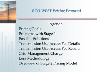 RTO WEST Pricing Proposal
