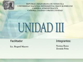 REPUBLICA BOLIVARIANA DE VENEZUELA UNIVERSIDAD NACIONAL EXPERIMENTAL SIMON RODRÍGUEZ