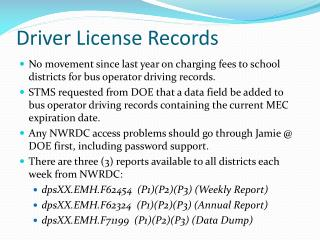 Driver License Records