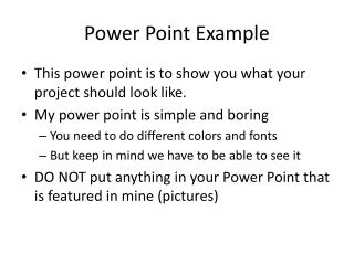 Power Point Example
