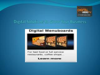 Digital Menu Solutions to Grow Your Business