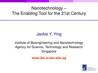 Nanotechnology –  The Enabling Tool for the 21st Century