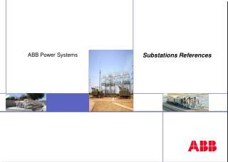 Substations References