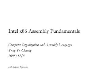 Intel x86 Assembly Fundamentals