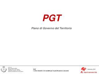 PGT  Piano di Governo del Territorio