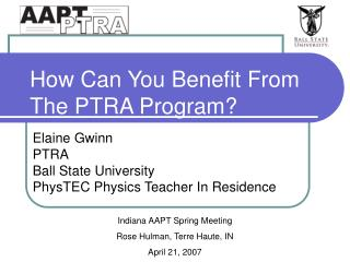 How Can You Benefit From The PTRA Program?