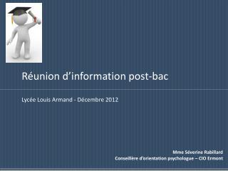 Réunion d'information post-bac