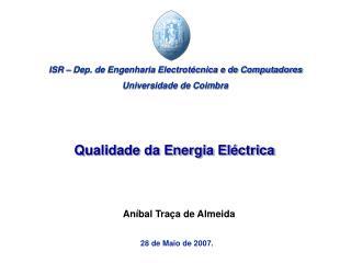 Qualidade da Energia Eléctrica