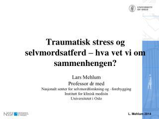 Traumatisk stress og selvmordsatferd – hva vet vi om sammenhengen?