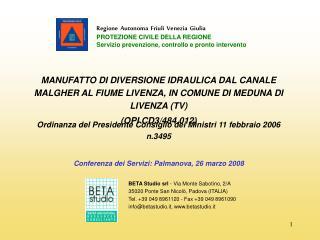 BETA Studio srl  - Via Monte Sabotino, 2/A 35020 Ponte San Nicolò, Padova (ITALIA)
