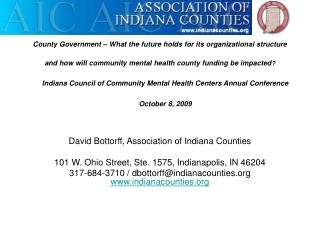 David Bottorff, Association of Indiana Counties