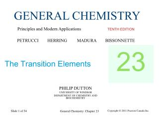 PHILIP DUTTON UNIVERSITY OF WINDSOR DEPARTMENT OF CHEMISTRY AND BIOCHEMISTRY