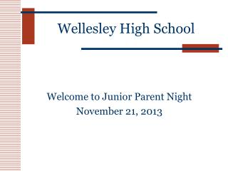 Wellesley High School