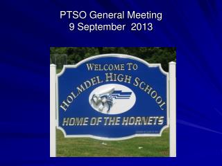 PTSO General Meeting 9 September  2013