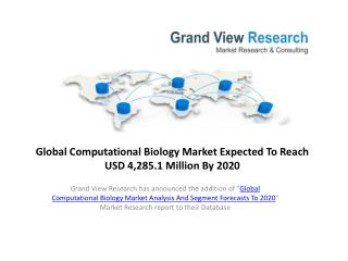 Computational Biology Market to 2020�Market Estimate.