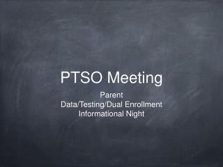 PTSO Meeting