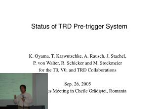 Status of TRD Pre-trigger System