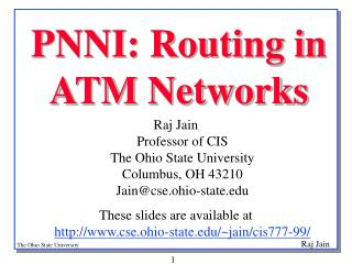 PNNI: Routing in  ATM Networks