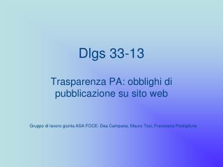 Dlgs 33-13