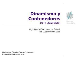 Dinamismo y Contenedores